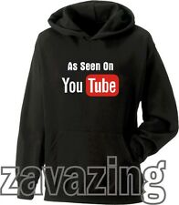 AS SEEN ON YOU TUBE HOODIE HOODY YOUTUBE FUNNY MUSIC ACTING BROADCAST YOURSELF
