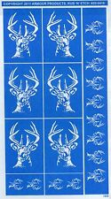 Armour Products ANIMALS, INSECTS GLASS, FLORAL, DRAGONS ETCHING STENCILS