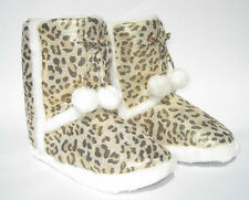 LEOPARD SLIPPER BOOTS ~ WITH TASSELS ~