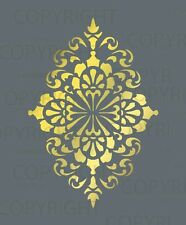 LARGE WALL DAMASK STENCIL PATTERN FAUX MURAL  #1015