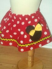 CUSTOM BOUTIQUE MINNIE MOUSE SKIRT  Yellow Trim 12M 18M 2T 3T 4T 5T