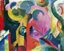 "Composition III by Franz Marc - 20""x26"" Art Giclee on Canvas"