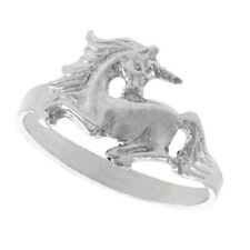 Sterling Silver High Polished Unicorn Horse Ring #ffr599