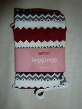 Gymboree PENGUIN CHALET Red Grey Fair Isle Print Leggings Pants NWT Fall Winter