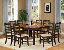 9 PC SQUARE DINETTE DINING ROOM TABLE SET AND 8 CHAIRS