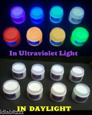 Choose a colour. Invisible UV Ultraviolet Blacklight Visible Fluorescent Paint