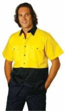 Work Shirt,Short Sleeve, Hi Vis, Hi Viz, Work Wear, S,M,L,XL,2XL,3XL,5XL,7XL