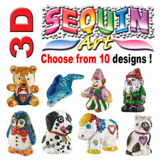 SEQUIN ART 3D - 8 designs to Choose from Arts and Crafts Rainy Day Activities