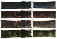 New Men's Dotted Genuine Calf Leather Watch Strap Band