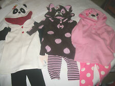 * NEW GIRLS Bonnie Baby BEAR DOG Hooded Sweater Legging OUTFIT SET 3/6M 12M 18M
