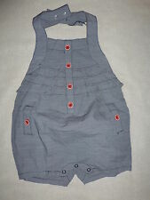 Gymboree VENICE SWEETIE Blue Ruffle Red Button Halter Shortie Romper 1 pc NWT