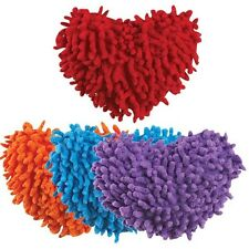 Grriggles Squeak Plush Heart Dog Toy Soft Moppy Fabric Bright Colors Squeaker