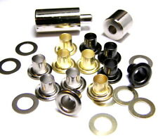 Eyelets With Tool 7mm Medium Gold/Brass,Silver/Nickel,Black,Assorted 5mm Small