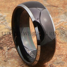 Black Mens Tungsten Ring Comfort Fit Wedding Band Hot Bridal Jewelry Size 6-13