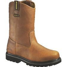 Caterpillar Edgework Unlined Static Discharge Steel Toe Boots - Mens Mahogany