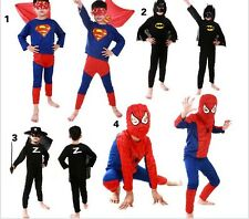 Kids Halloween cosplay Party Cloth Spider Bastman Outfit Fancy Costume for Boys