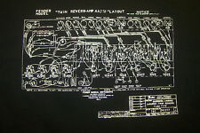 FENDER MODEL TWIN REVERB-AMP AA270 LAYOUT T SHIRT TUBE VINTAGE TELECASTER S-5XLG