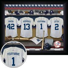 Personalized MLB Locker Room/Jersey FRAMED 11x14 print/photo/picture! Baseball