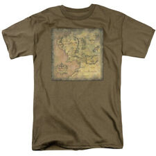 The Lord Of The Rings Middle Earth Map Officially Licensed Adult Shirt S-3XL