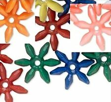 1000 Opaque Acrylic 18mm Paddle Wheel Star Flake Beads * Many Colors Available