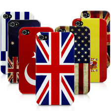 FLAG DESIGN BACK CASE COVER FOR APPLE IPHONE 4 / 4S - VARIOUS COUNTRIES OPTION