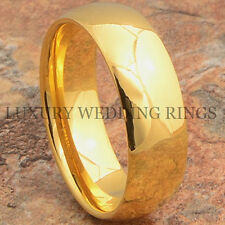 Tungsten Ring 14K Gold Wedding Band For Mens & Womens Bridal Jewelry Size 6-13