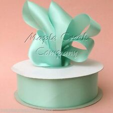 Double Face AQUA (Tiffany Blue) Polyester Satin Ribbon Roll Assorted Sizes
