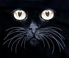 BEAUTIFUL CAT ART CATS EYES WITH NOSE AND WHISKERS KITTY T-SHIRT WS546