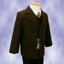 GINO GIOVANNI Boy G230 Brown Formal Suit Select Size From Babies To Teens