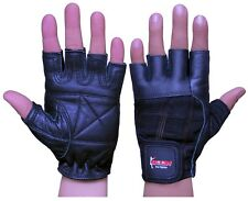 BOOM Pro Pure Leather Gym Gloves,Weight Lifting,Body Building,Cycling,Excercise