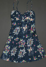 NEW! ABERCROMBIE by Hollister Womens April Floral Summer Dress Navy S,M,L