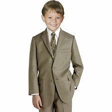 Johnnie Lene Taupe/Natural Suit Set for Kids Boys From Baby to Teen
