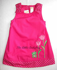 NWT Gymboree BRIGHT TULIP Pink Frog Flower Dress Girls 12-18 18-24 2T 3T 4T 5T
