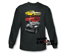 Officially Licensed Fast And The Furious Muscle Car Splatter Long Sleeve Shirt