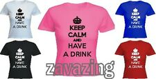 KEEP CALM AND HAVE A BEER FITTED T-SHIRT DRINK ALCOHOL PINT CIDER PARTY PUB GIFT