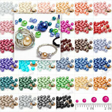 4/6/8/10mm Glass Pearls DIY spacer Round Loose beads wholesale Free Ship