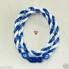 Phiten Tornado Custom Necklace: Royal Blue with White New