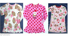 CARTERS Long Sleeve FLEECE Winter NIGHTGOWN Toddler Girls Pjs 2T 3T or 4T NEW