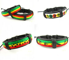 Men Women Popular Hot Jamaica Reggae Bob Marley Rasta Hiphop Leather Bracelet