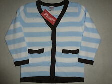 Gymboree GIRLS BEST FRIEND Blue Stripe Bow Pocket Boyfriend Cardigan Sweater NWT