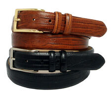 Adam Mens Dress Belt, Golf Belts Italian Calfskin Leather Belt New Black Brown