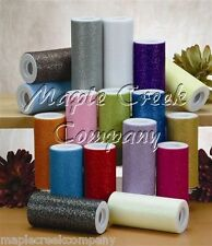 Wedding GLITTER Tulle Roll 6in x 30ft Sparkling Tulle (10 yards) YOU PICK COLOR