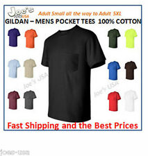Gildan Mens Size S-XL 2XL 3XL 4XL 5XL Pocket Tees 100% Cotton T-Shirt 2300