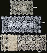 """Crochet Lace Placemat Table Runner 14x20"""",14x36"""", 14x54"""", 14x72"""" Beige or White"""