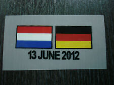 NEW Germany EURO 2012 Match Details Jersey DECAL FLAG Print