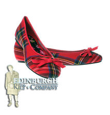 SCOTTISH TARTAN - ROYAL STEWART - FLAT BALLET PUMP SHOES - UK 3-8!