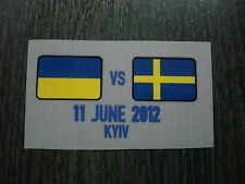 UKRAINE EURO 2012 SHEVCHENKO Match Details DECALS for Jersey