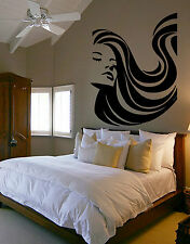 Woman with Flowing Hair Vinyl Wall Art Decal Mural Sticker,Giant Stickers A186