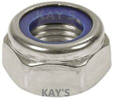 A2 Stainless Steel Nyloc Nuts To Fit Metric Bolts & Screws M2.5,3,4,5,6,8,10,12