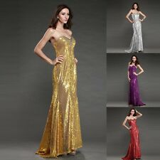 2012 Homecoming Shinning Sequins Prom Party Gown Evening Long Mermaid Dress